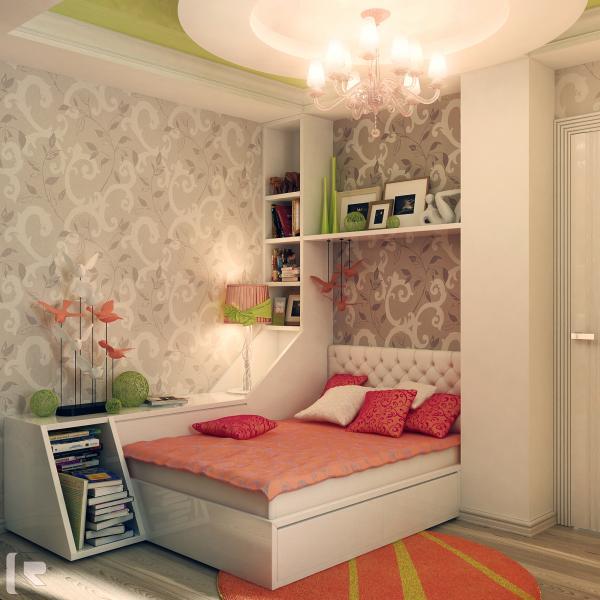 Светлое оформление комнаты для ребенка