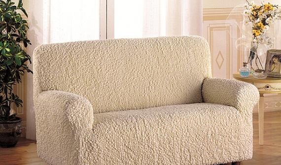 Светлые еврочехлы на мягкую мебель