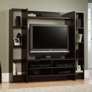 Темная мебель под телевизор