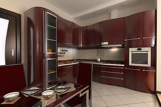 Темная реставрация кухонного гарнитура