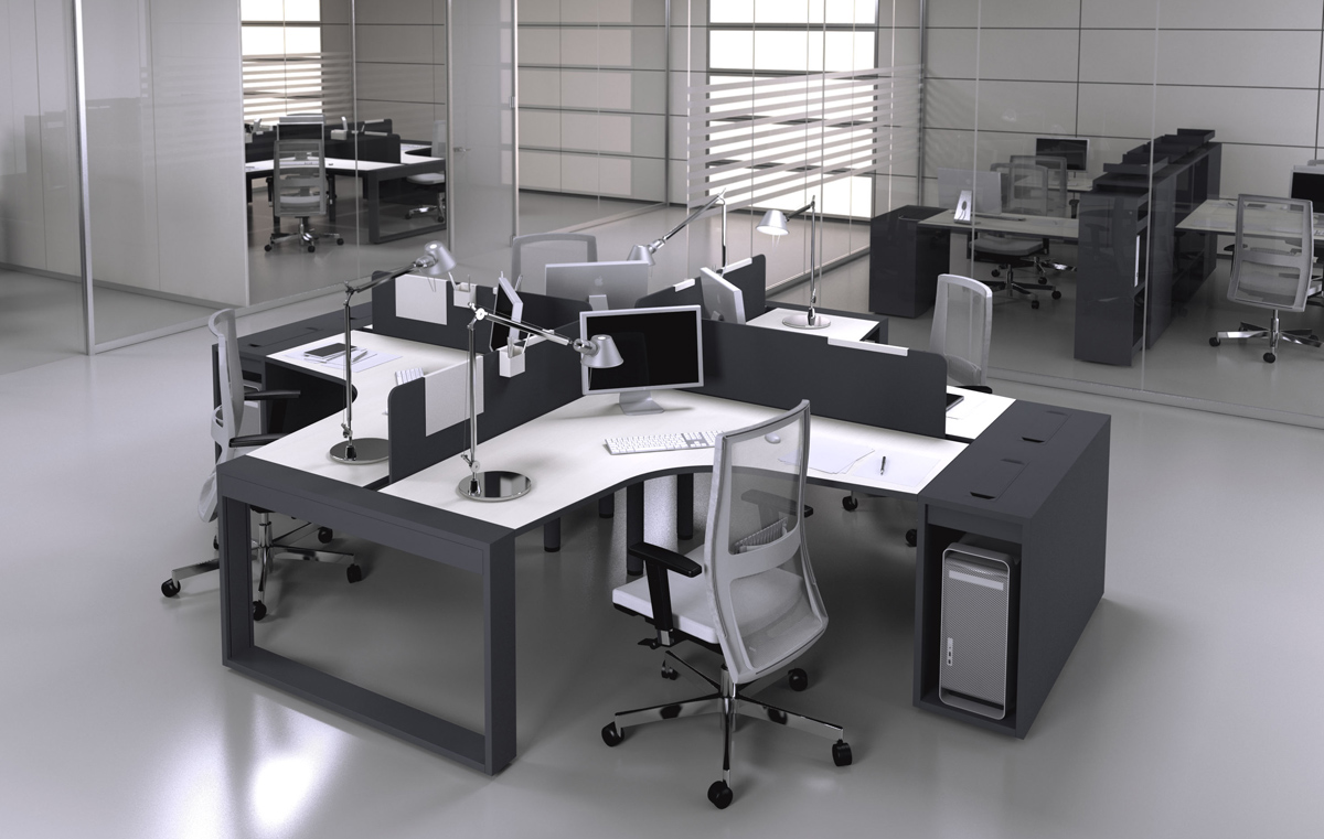 Офис в темных тонах