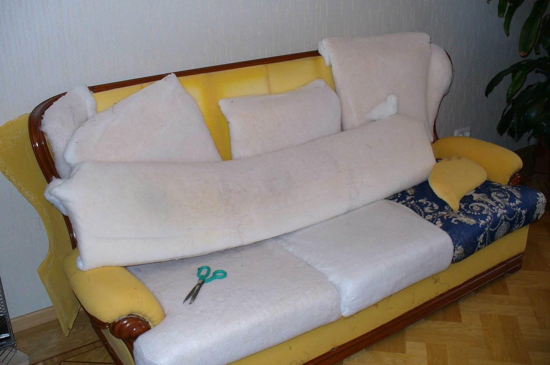 Удаление наполнителя мебели