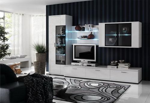 Удобная корпусная мебель для гостиной комнаты