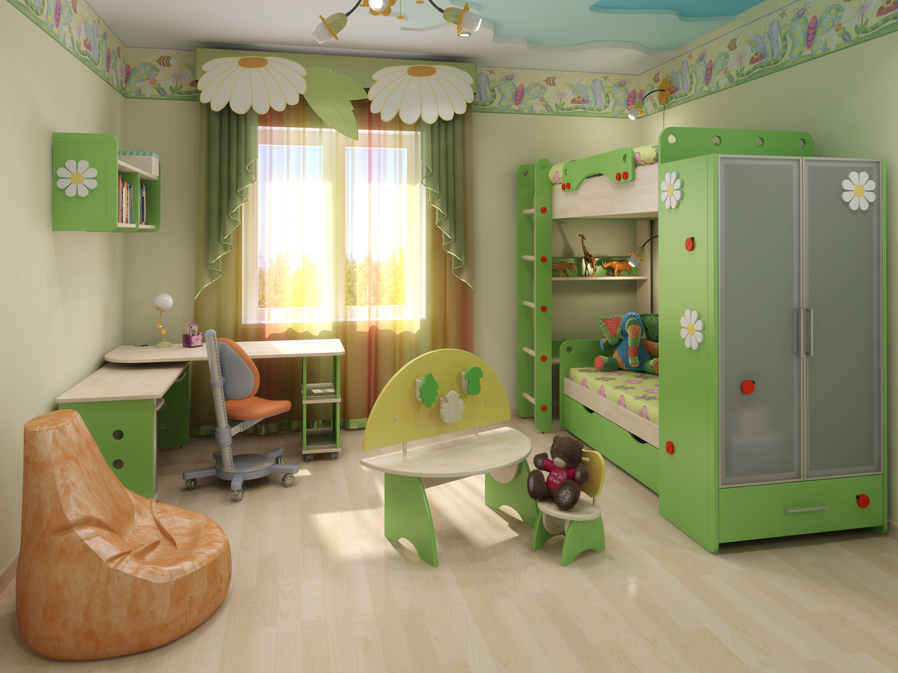 Удобная мебель для детской спальни
