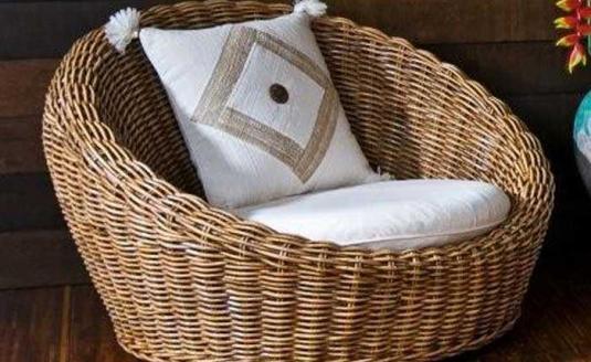 Удобная мебель, созданная из ротанга