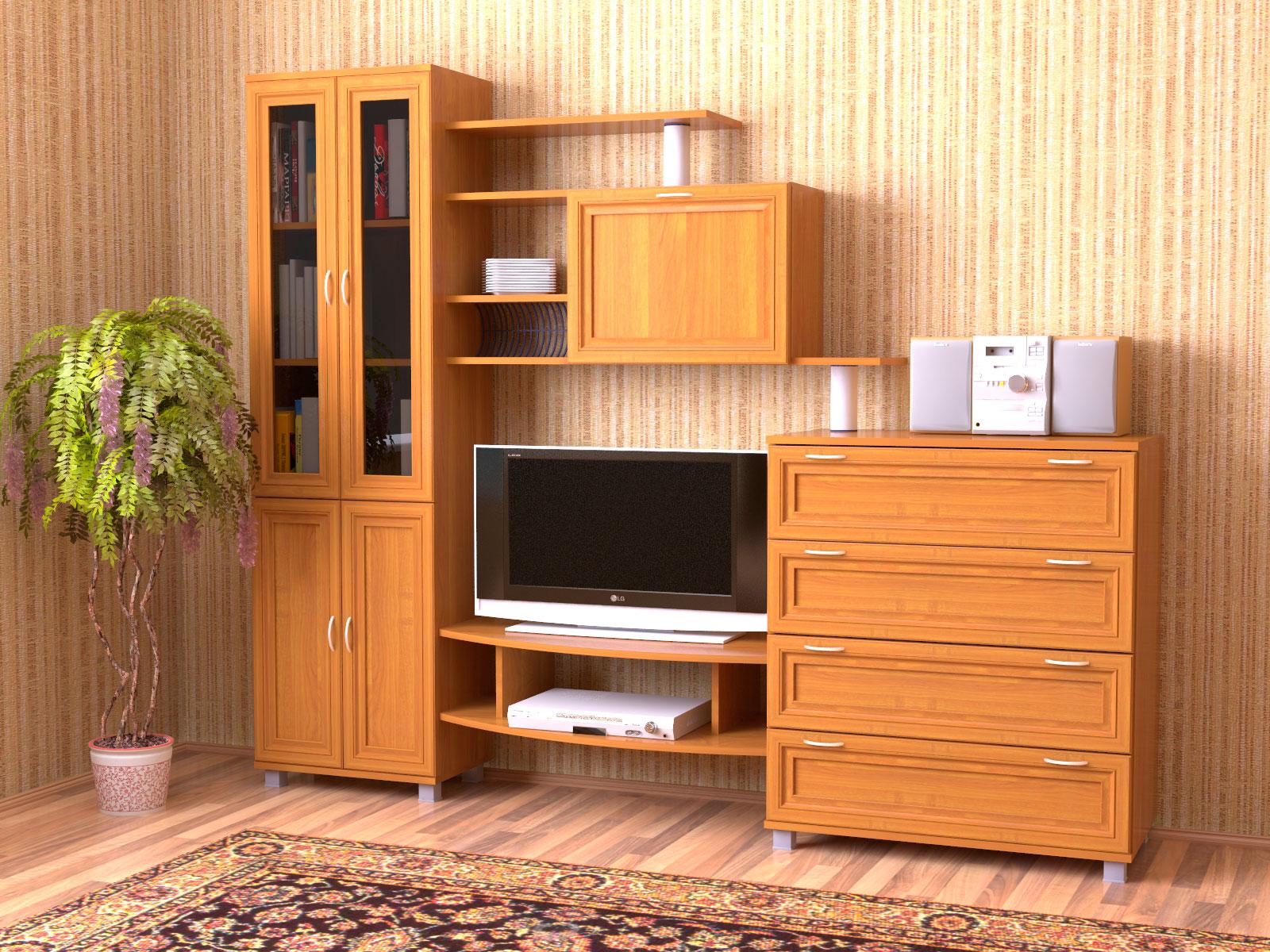 Удобная мебель цвета вишни