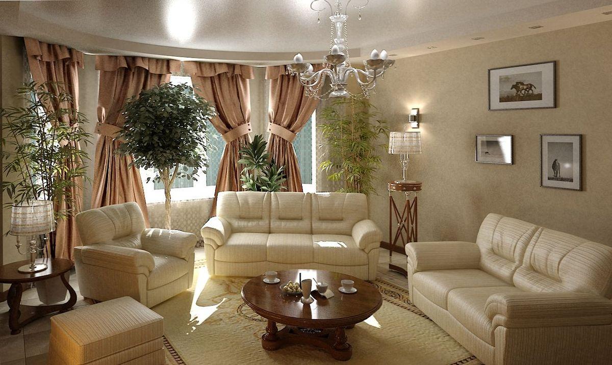 Удобная мебель в гостиную классического стиля