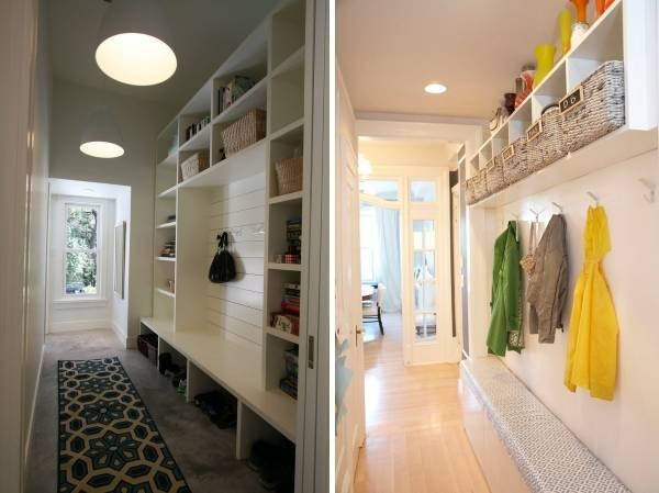 Удобная мебель в узкий коридор в доме