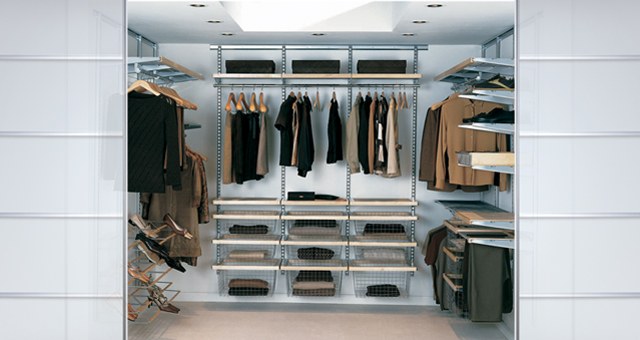Удобная сетчатая гардеробная комната