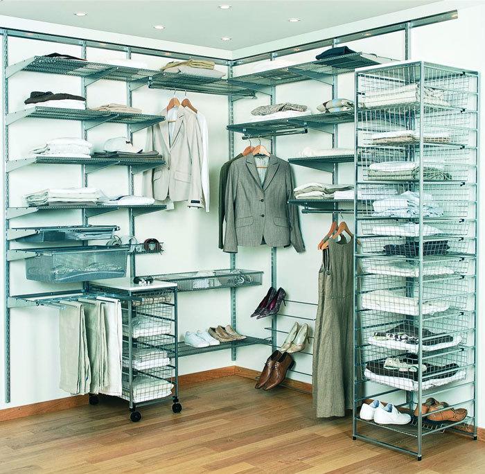 Удобная система хранения гардеробной