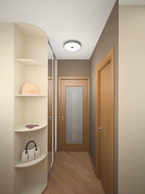 Удобная современная мебель для небольшого коридора