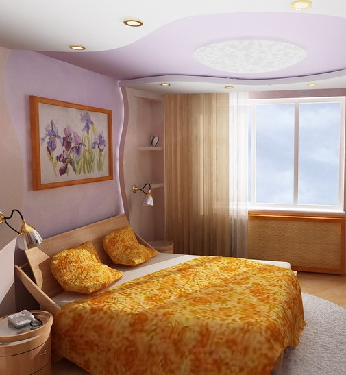 Удобное расположение мебели в спальной комнате
