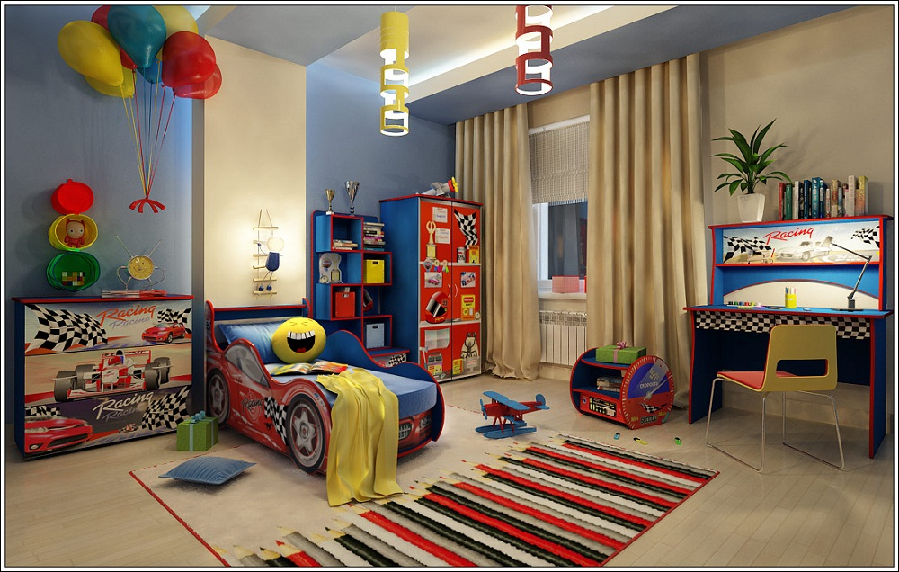 Удобный и современный детский набор мебели