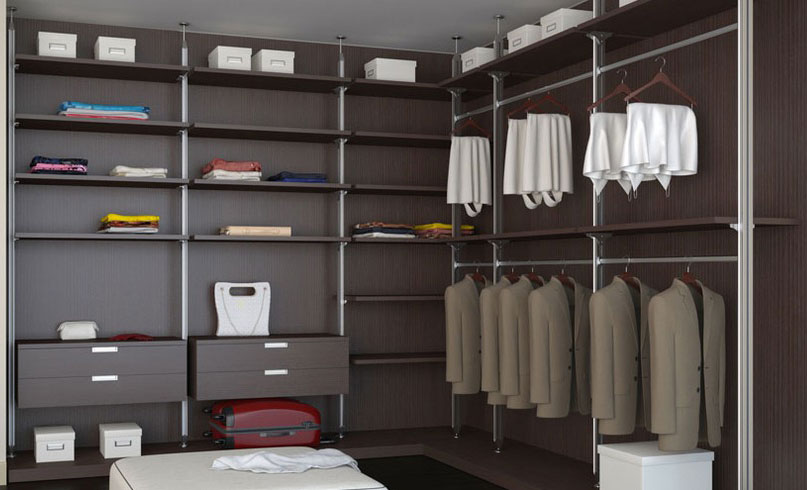 Угловая гардеробная комната