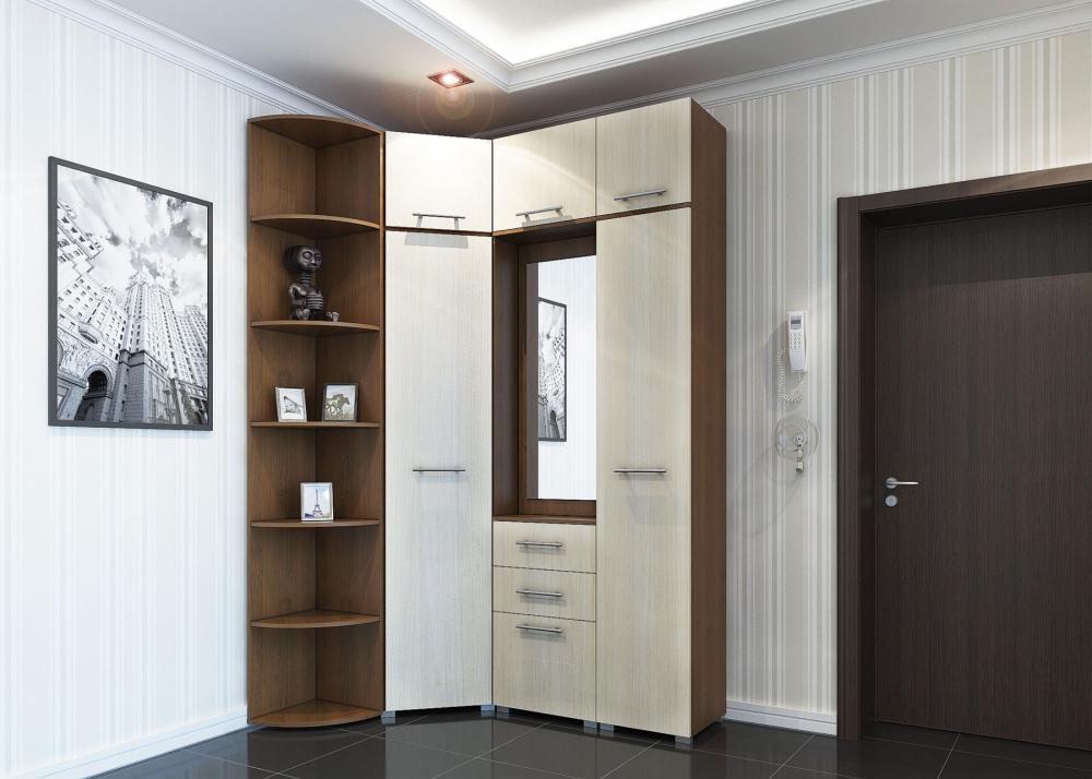 Угловая мебель в узкий коридор