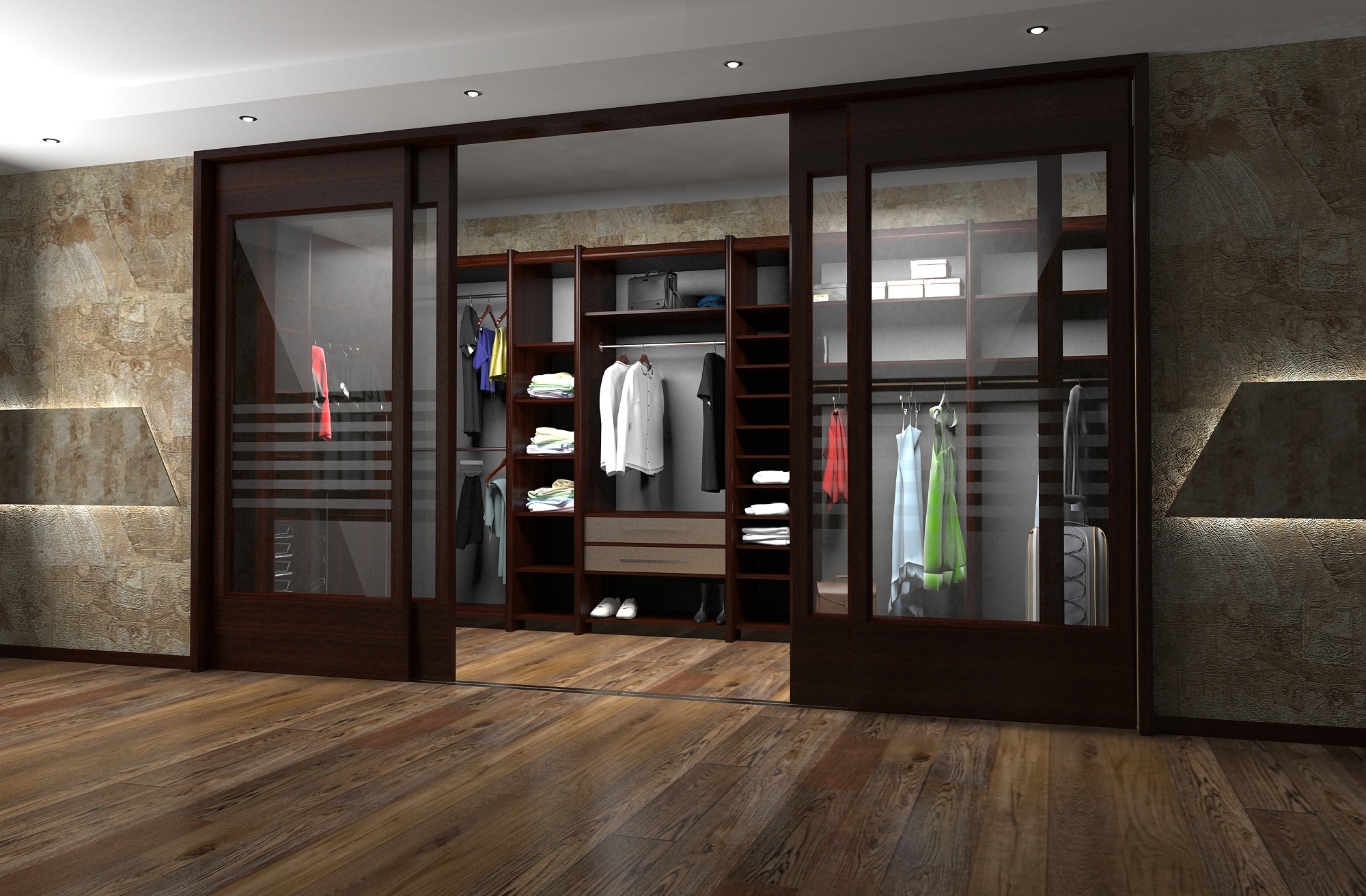 В настоящее время существует большой ассортимент дверей для гардеробных комнат