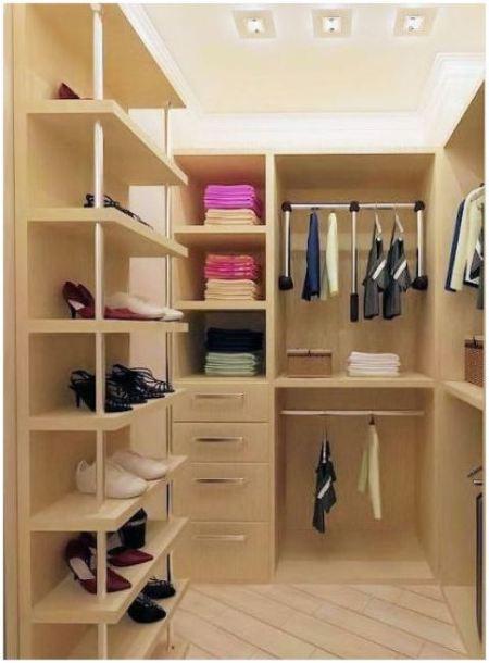 Вариант гардеробной комнаты 4 кв м