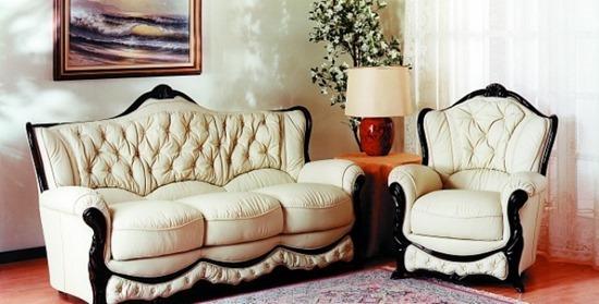 Вариант мягкой современной мебели для гостиной