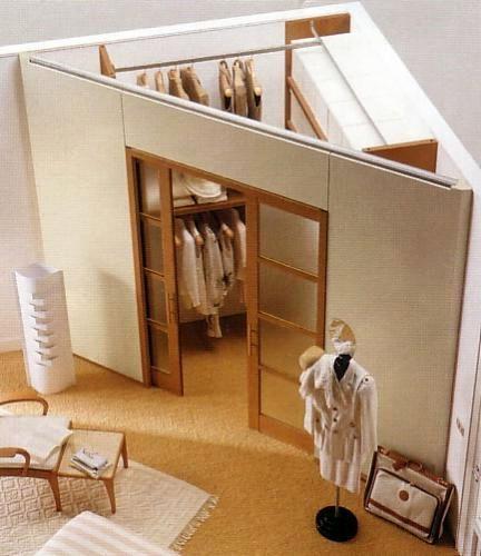 Вариант треугольной угловой гардеробной