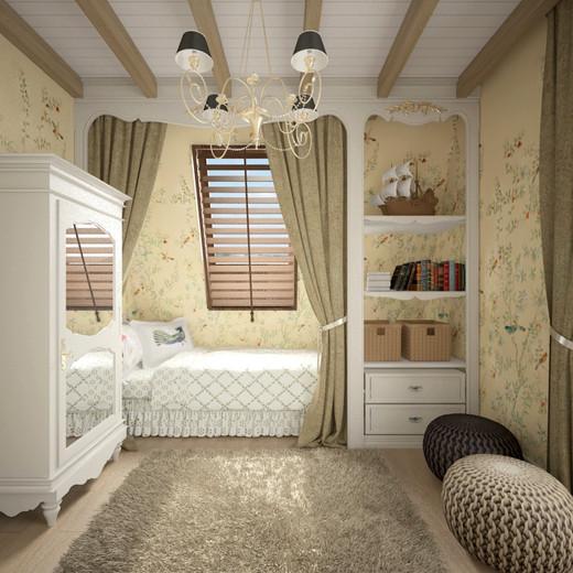 Варианты мебели в стиле прованс для обустройства детской