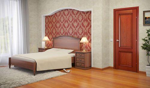 Вишневый оттенок мебели