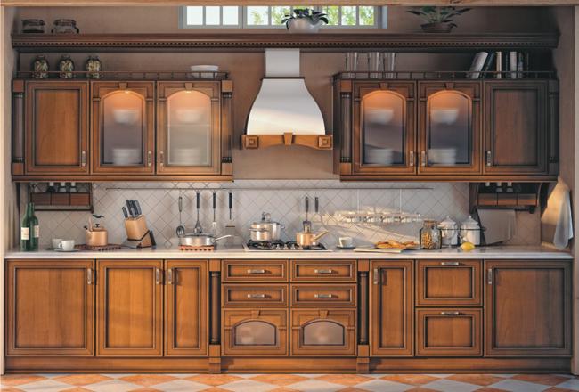 Выбираем фасады кухни из массива дерева