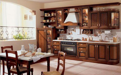 Выбираем мебель для кухни на основе дерева
