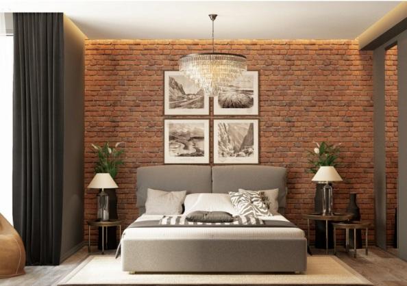 Выбираем симметричное расположение мебели в спальне