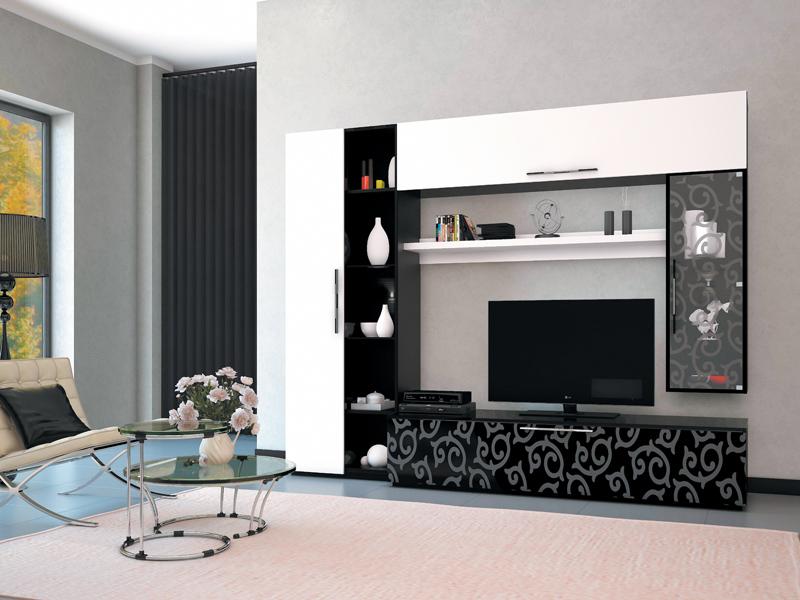 Выбор глянцевой мебели для гостиной
