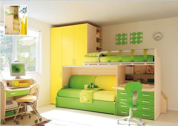 Яркая мебель для детской спальни