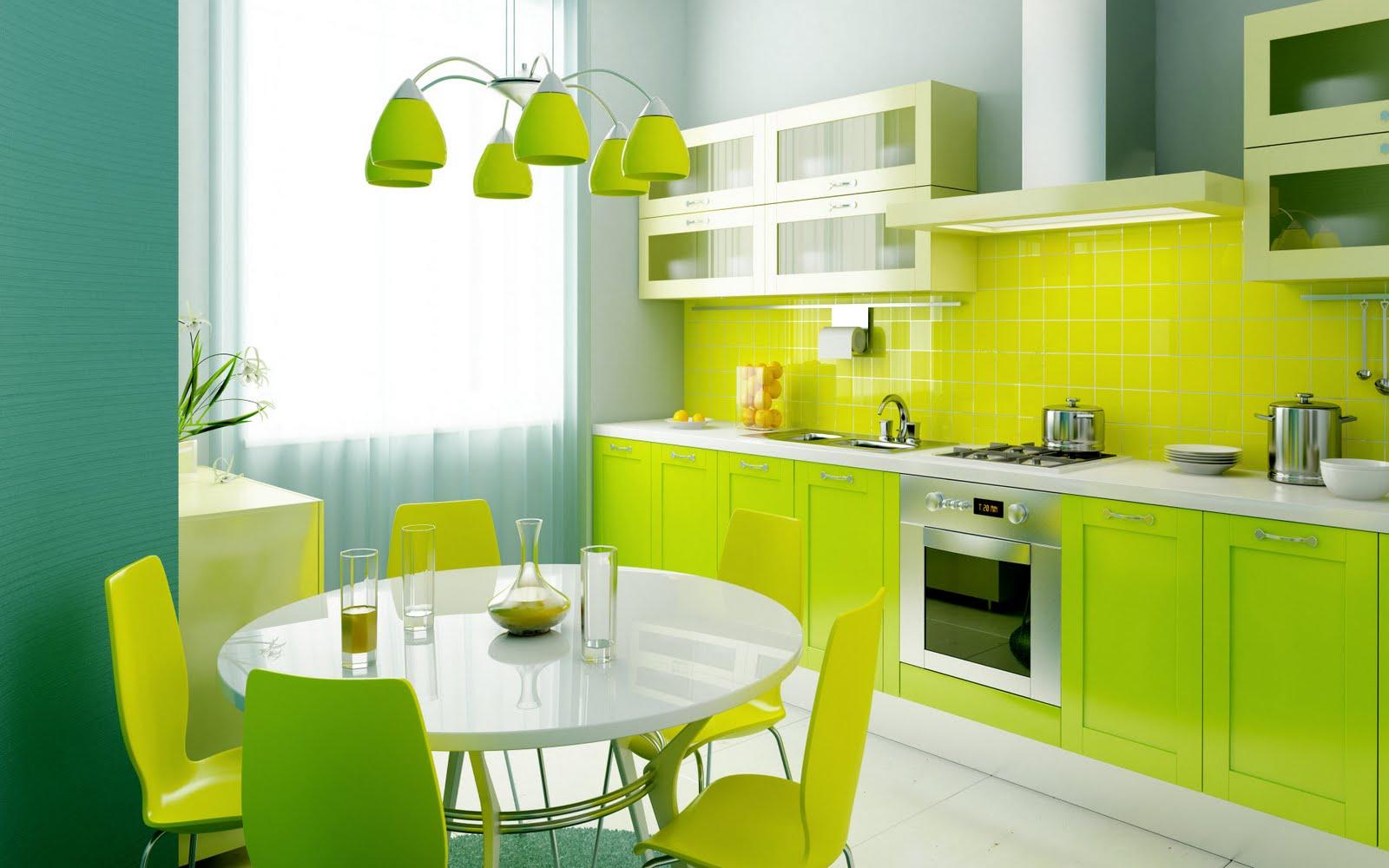 Яркая мебель для оформления кухни