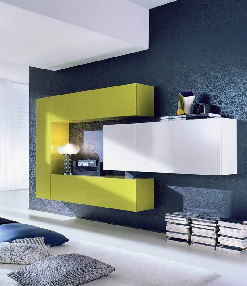 Яркая модульная мебель для гостиной комнаты