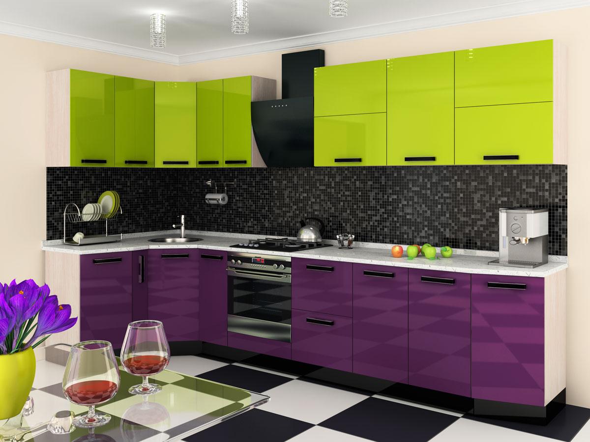 Яркая модульная мебель для кухни