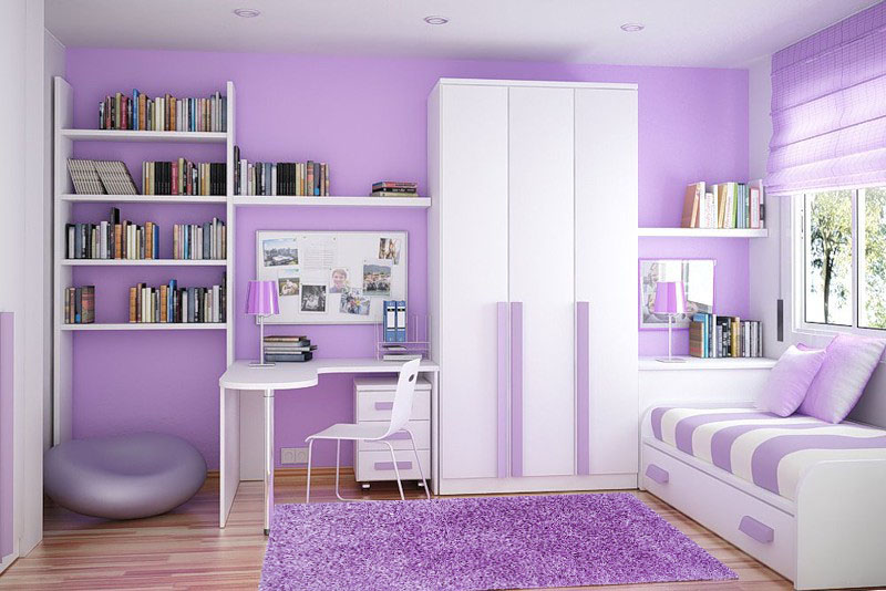 Яркая модульная мебель для спальной комнаты