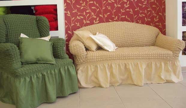 Яркие еврочехлы на мягкую мебель