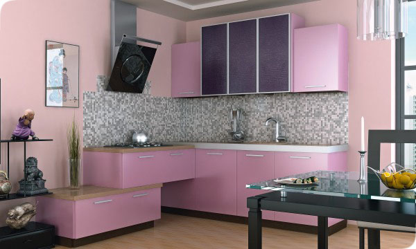 Яркий фасады на кухне