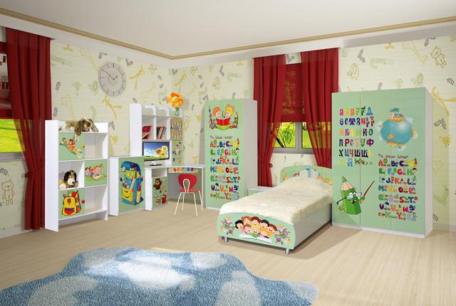 Яркий и оригнальный детский набор мебели