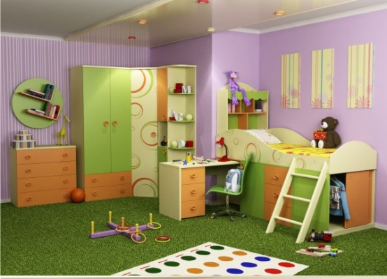 Яркий набор детской мебели