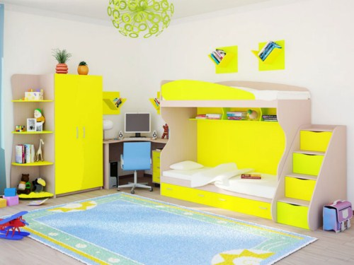 Желтый набор детской мебели