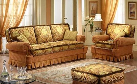 Золотая ткань для обивки мебели