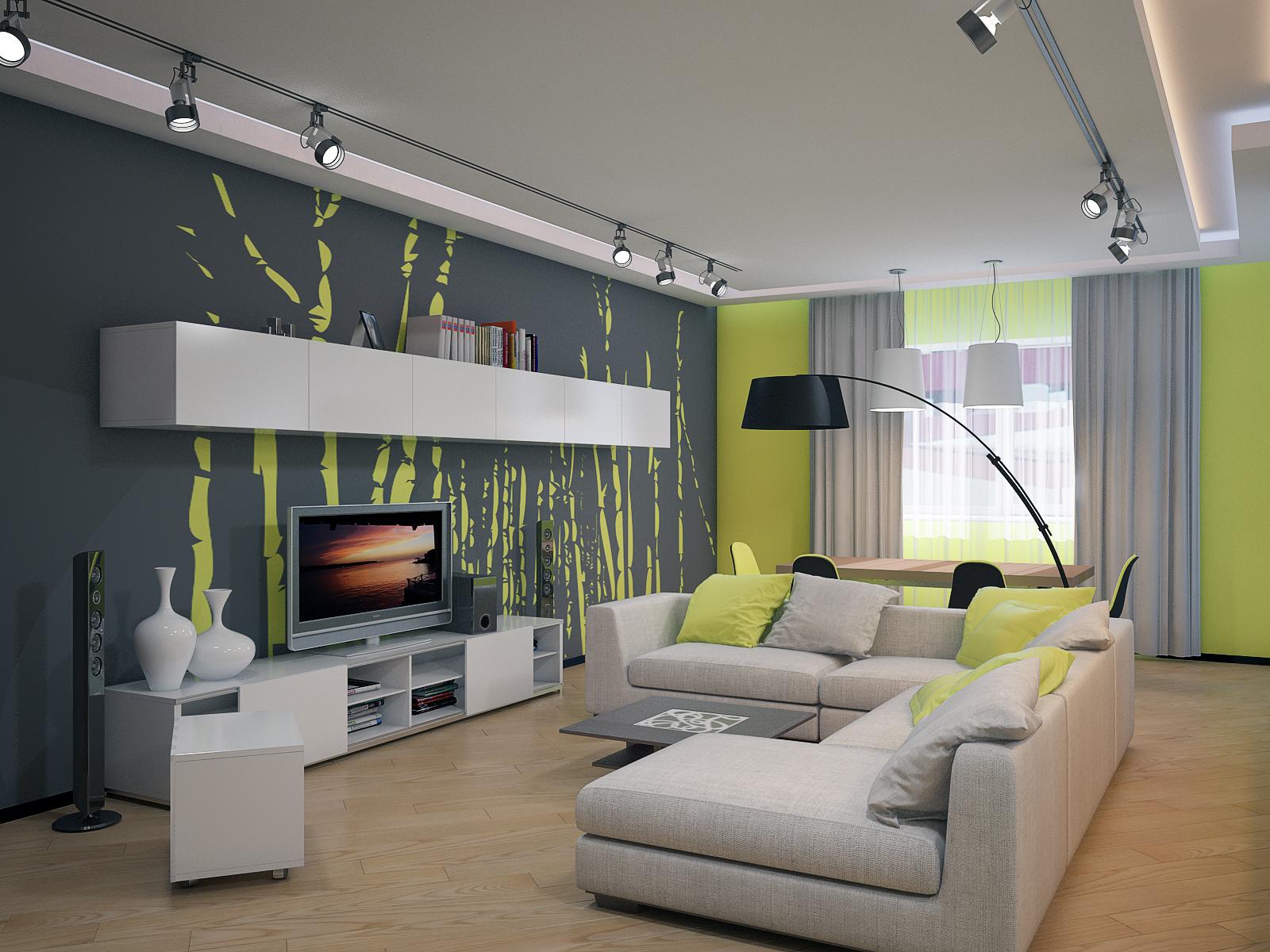 Белый цвет в гостиной