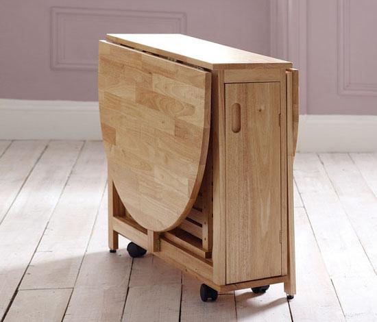 Деревянный стол тумба