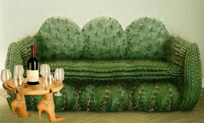 Диван в виде кактуса