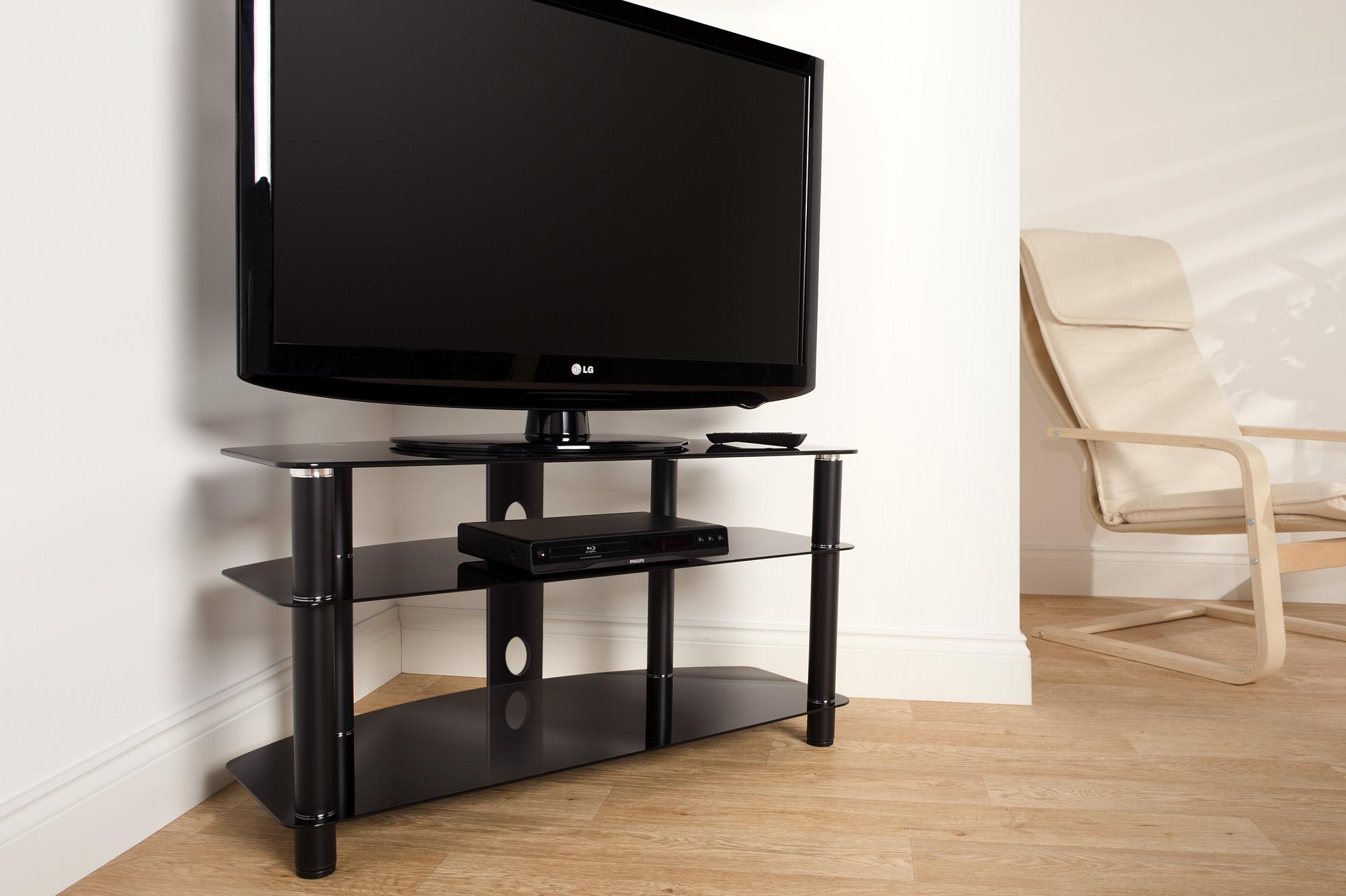 Эти ТВ-тумбы изготовлены из современных материалов