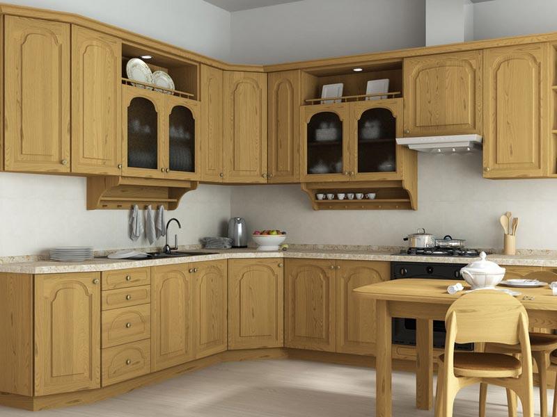 Фасады для кухни из мебельного щита