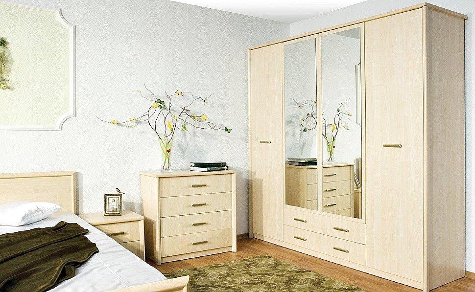 Гармоничная спальня с мебелью