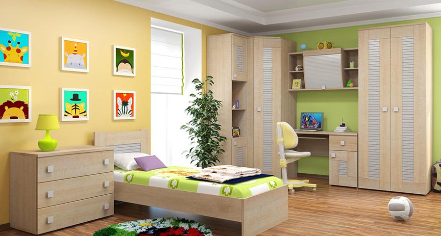 Какой цвет наиболее популярен для детской мебели