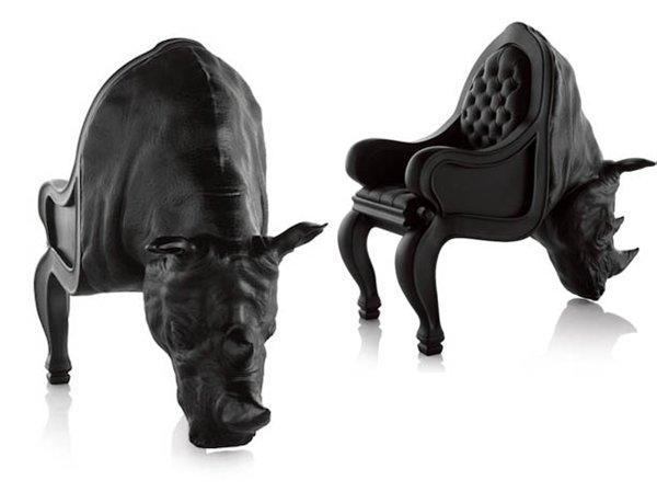 Кресло в виде носорога