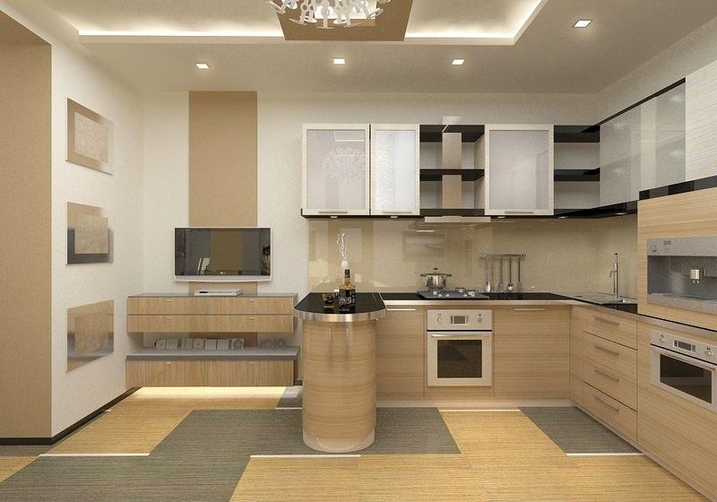 Кухня цвет золотой клен