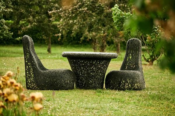 Мебель для сада из цельного дерева
